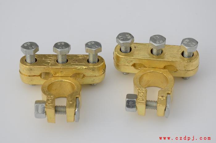 双压线式纯铜电瓶夹