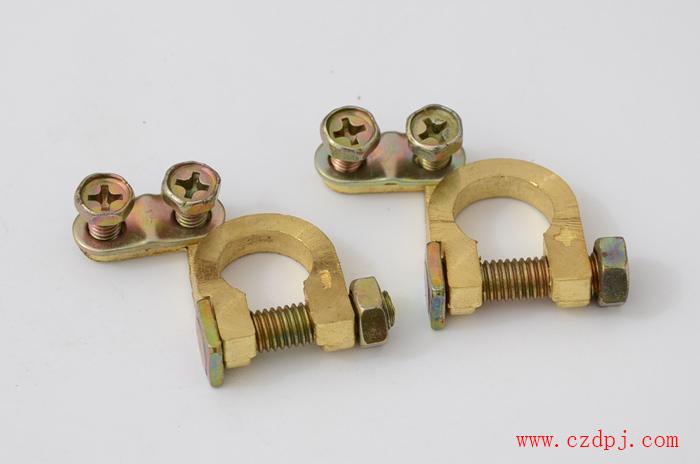 压线式纯铜电瓶夹