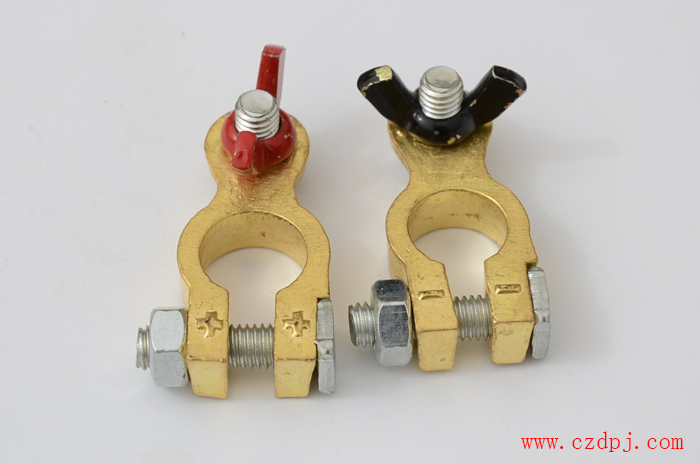 手拧式纯铜电瓶夹