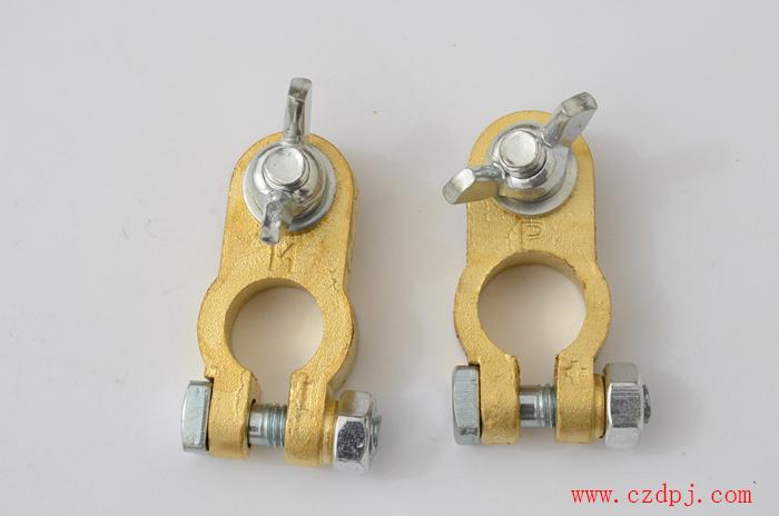 手拧式纯铜电瓶夹(底部带内六孔)