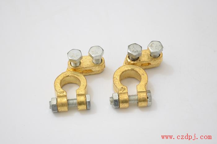 压线夹板式纯铜电瓶夹