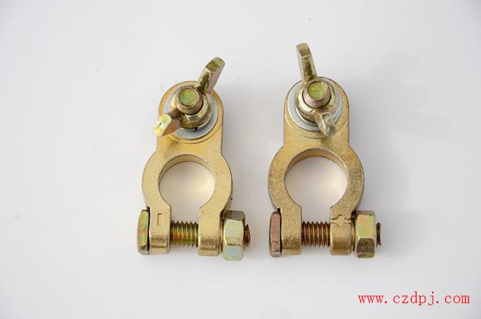 锌合金镀铜电瓶夹