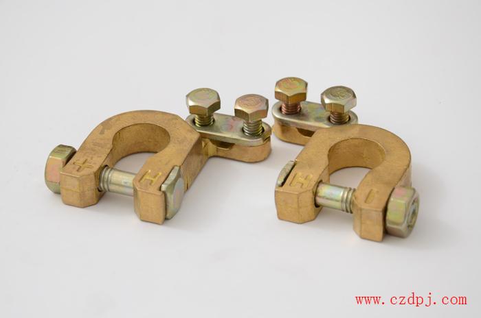 镀铜铝镁合金电瓶夹(夹线式)