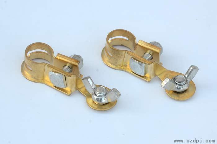 黄铜冲压电瓶夹-001